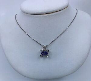 14k-White-Gold-Tanzanite-amp-Diamond-Pendant-Necklace