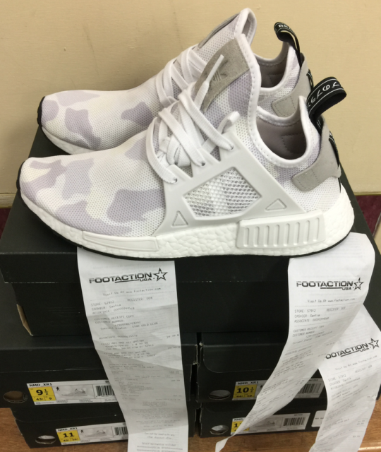 1b7ccb242 Adidas NMD XR1 Nomad White Duck Camo BA7233 100%AUTHENTIC W Receipt Size 7.5