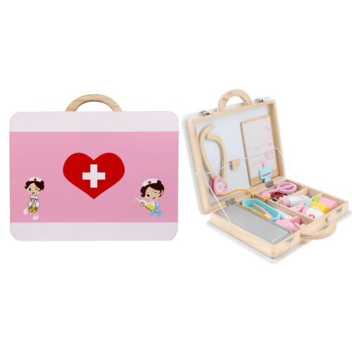Kit 15pcs Médecin en Bois Jouet Pour Enfants Jeu de Rôle