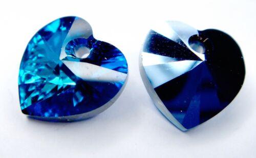 Original Swarovski Cristal #6228 Xilion del encanto del corazón ~ ~ 10.3 X 10mm Muchos Colores
