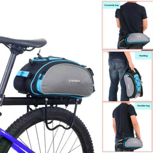 13L Cycling Bicycle Bike Rack Back Rear Seat Tail Carrier Trunk Pannier Bag B5I6