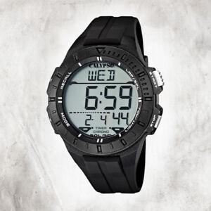 Calypso-Plastic-Pure-Men-039-s-Watch-K5607-6-Wristwatch-Black-Digital-UK5607-6