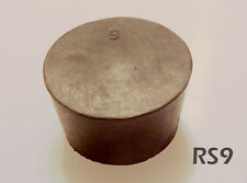 9 Black Natural Rubber Laboratory Stoppers Size 9 Solid Stopper 2pack Rs 9
