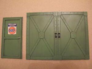 t r hallentor garage tor f r werkstatt tankstelle diorama deko zubeh r 1 18 ebay. Black Bedroom Furniture Sets. Home Design Ideas