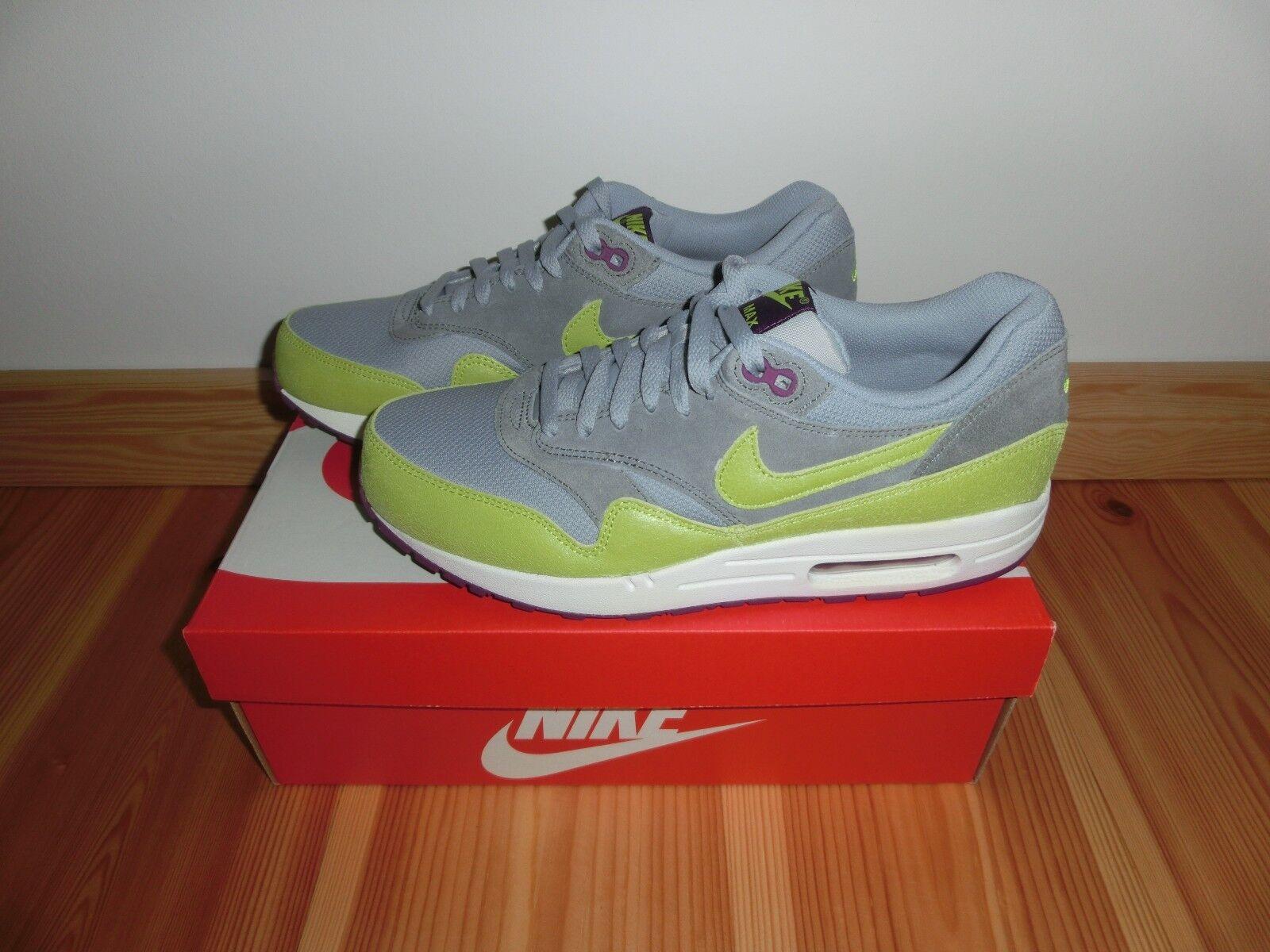 WMNS Nike Air Max 1 EUR 43 UK 8.5 US 11 grau  neon Gelb  lila Neu & OVP Neuer Markt
