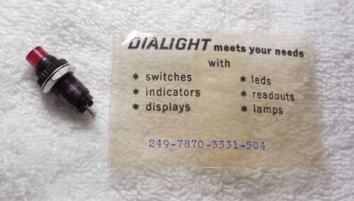 Qty 1 Dialco//Dialight 249-7870-3331-504 Red LED Panel Mount Lamp NOS 10V 20mA
