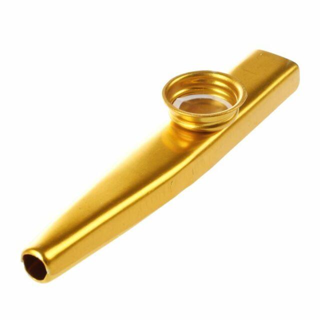 Metal Kazoo Flute Mouth Music Instrument Harmonica Hot Sales Practical Gold P9C2