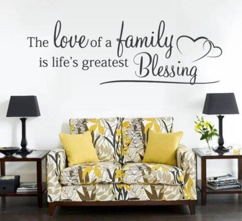 The Love of a Family Wall Sticker Wall Chick Decal Art Sticker Quote