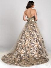 New Ball Gown Camo Evening Dress Formal Tulle Camouflage Prom Party Bridal Gowns