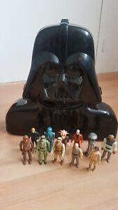 Vintage 1980 Star Wars Collectors Darth Vader Case Kenner + 11 Action Figures