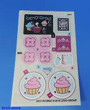 LEGO® (36) Sticker (41119) Aufkleber / Bäcker / Kaffee / Komplett