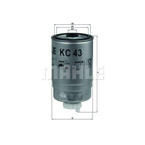 1 Kraftstofffilter MAHLE KC 43 passend für HANOMAG HENSCHEL ISUZU IVECO MAN