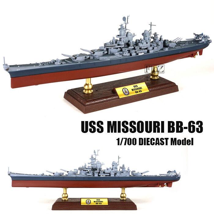 La segunda guerra mundial USS Missouri BB-63 1 700 Diecast Modelo de Barco FOV