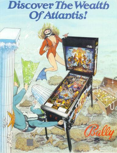 1989 BALLY ATLANTIS PINBALL FLYER