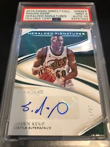 2020 Panini Immaculate #HSSKP SHAWN KEMP Heralded Signatures PSA/DNA 9 MINT