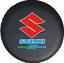 HOT Car Wheel Spare Tire Cover 16inch For SUZUKI Logo Heavy Vinyl Covers Black