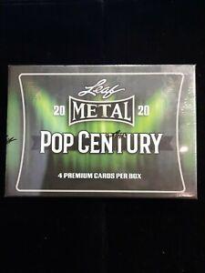 2020 Leaf Metal Pop Century Hobby Box 4 cards per box. FACTORY SEALED