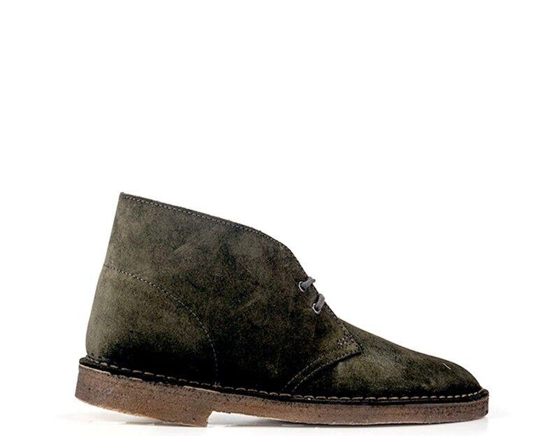 Schuhe CLARKS Mann OLIVA BOOT Naturleder DESERT BOOT OLIVA OL 411341