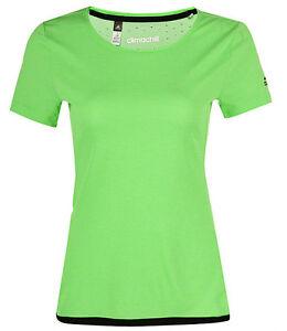 3da3d8fc36ebe Das Bild wird geladen Adidas-Climachill-Top-T-Shirt-Grun-Damen -Fitnesstraining-