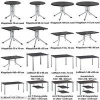 Kettler Gartentisch 16 Größen Klapptisch Aluminium Kettalux Gartentische Tisch