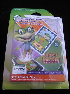 new leapfrog imagicard letter factory adventures reading 3 5 yrs for leap pad ebay