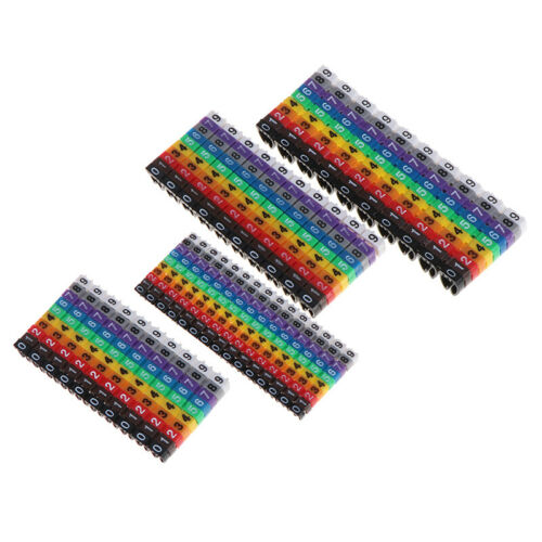 Cable Markers Colourful C-Type Marker Number Tag Label For Wire 1.5//2.5//4// 6mBB