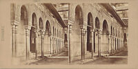 Early Stereoview View of Alhambra Palace Granada Spain C1860