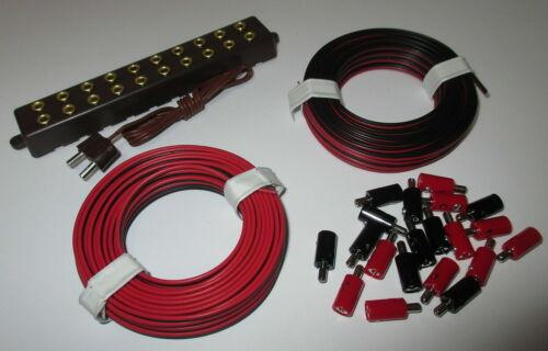 Zwillingslitzen und Verteilerplatte mit Stecker   NEU Stecker 2,6mm