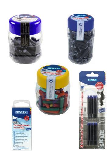 Tintenpatronen Füllerpatronen Patronen für Füller blau und farbig