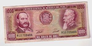 Peru-1000-1-000-soles-de-oro-1970-qSPL-aXF-Pick-105a-Lotto-1487