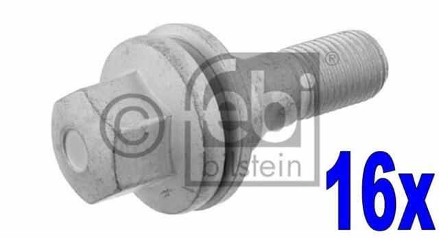 16x Boulon Vis de roue - FEBI BILSTEIN 29208 pour PEUGEOT 407 SW (6E_) 1.6 HDi 1