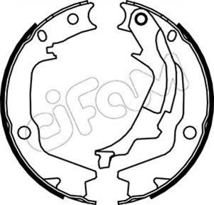 Bremsbackensatz Feststellbremse für Bremsanlage Hinterachse CIFAM 153-186