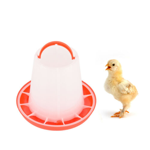 1 X 1.5kg plastic feeder baby chicken chicks hen poultry feeder lid /& handle PLC