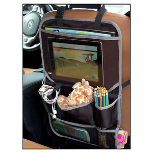 Seat Car Organizer Back Seat Tablet holder Travel Storage Bag ...