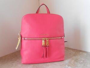 a4fd18dc3f327b New MICHAEL KORS Rhea Zip Medium Slim Leather Backpack $258 ROSE ...