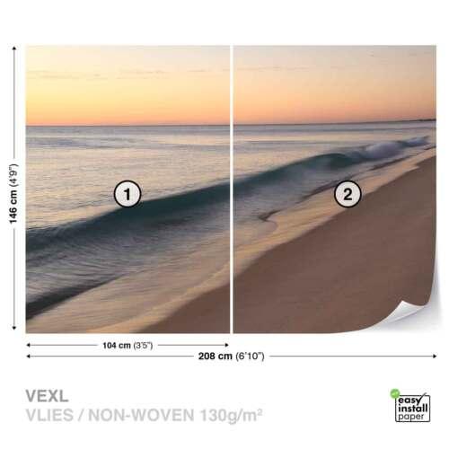 JD-1374WS WALL MURAL PHOTO WALLPAPER XXL Beach Sea Ocean Waves Sunset