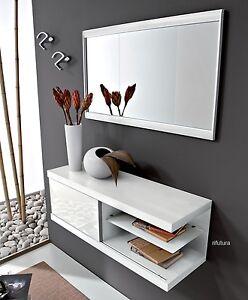 Mobile ingresso moderno entrata consolle specchio pr for Specchio x entrata