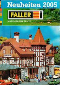 Faller-nouveautés 2005-prospectus Brochure Modélisme Train Ho Tt N Z-b17626-afficher Le Titre D'origine
