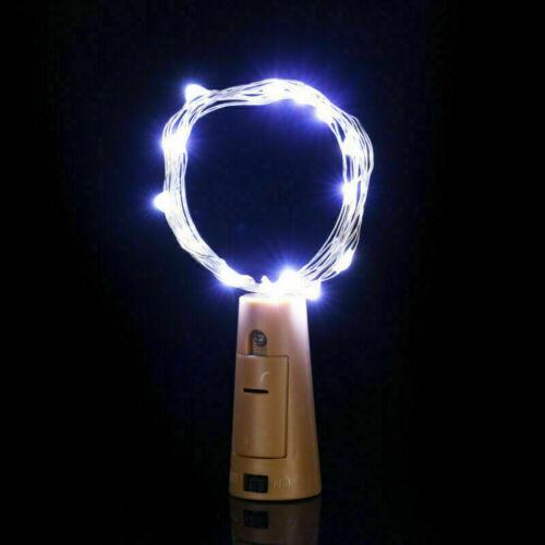Wine Bottle Fairy String Light Cork Shape Wedding Christmas Party Decor 10 20LED