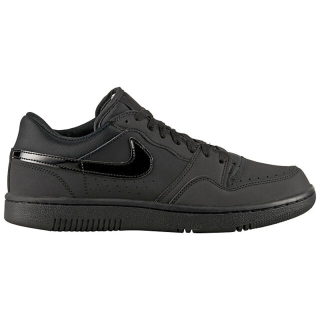 Nike Court Force Low Schwarz Leder Herren Sneaker Schuhe Turnschuhe dunk air one