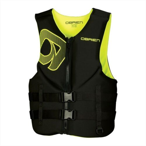 2017 O'Brien Traditional Biolite Watersports Vest XS 3XL Black Greenyel. 56406