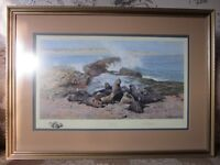"""David Shepherd Signed Limited Edition Lithographic Print """"Elephant Seals"""" - 1990"""