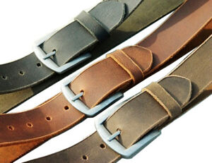 73c2aa0202900 Details about Men Real Leather Belt Crunch wide strap jeans Trouser full  grain made in india