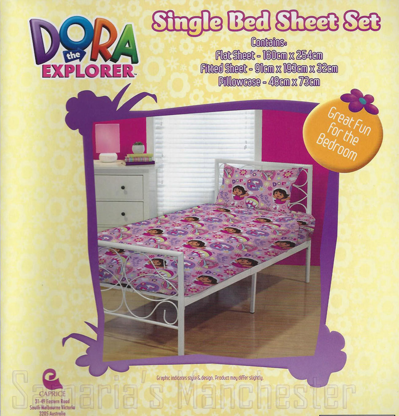Dora the Explorer KIDS Sheet SetNickelodeonHot Air BalloonsSingle