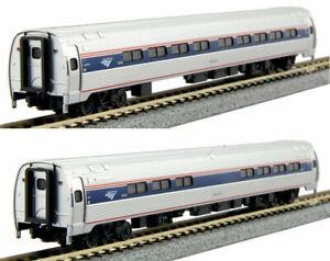 Kato-N-Scale-Amtrak-Amfleet-I-Phase-VI-2-Passenger-Car-Add-on-Set-B-1068003