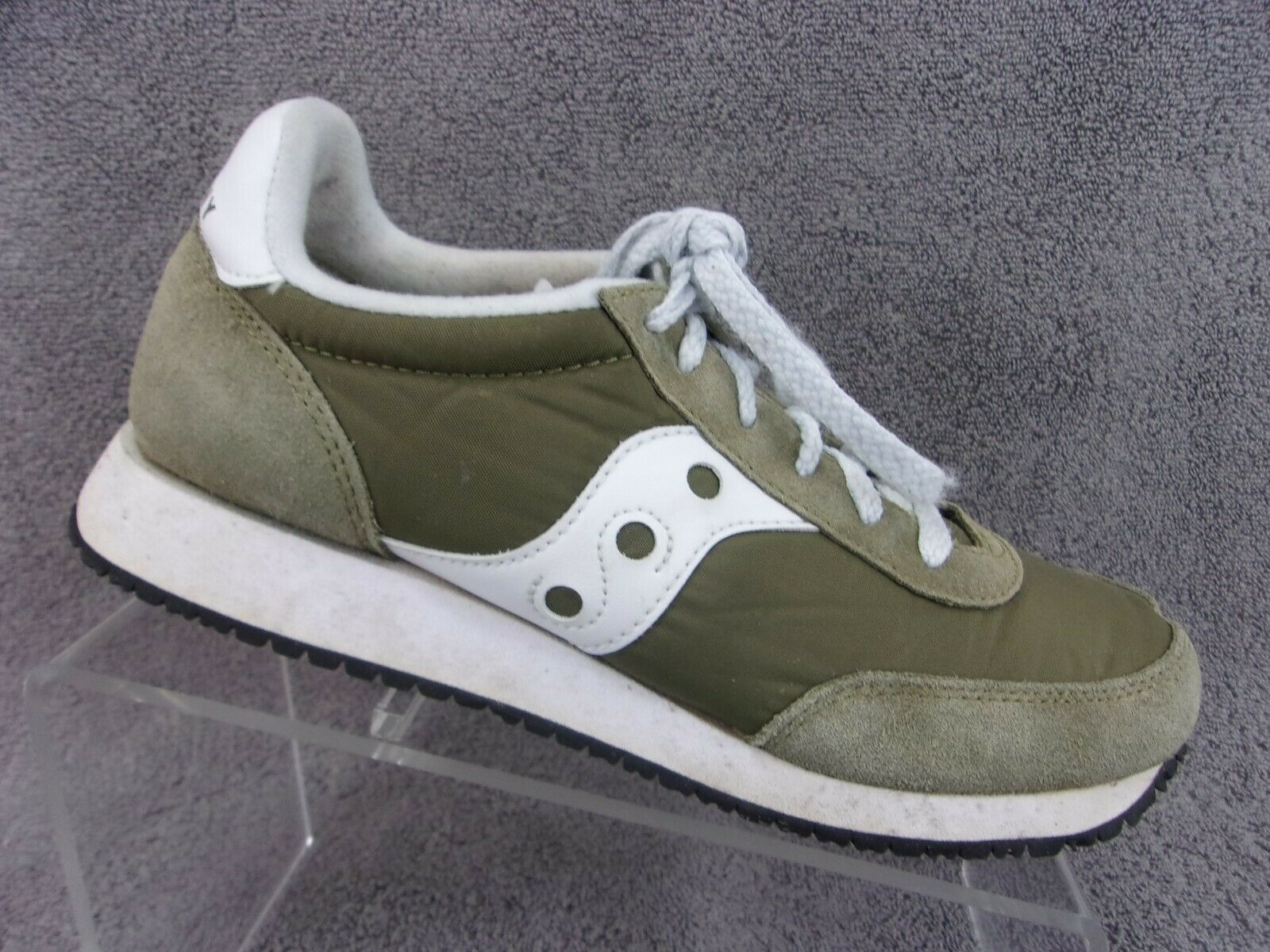 Saucony logan mv olive green white athletic running shoe womens US8.5 EU40
