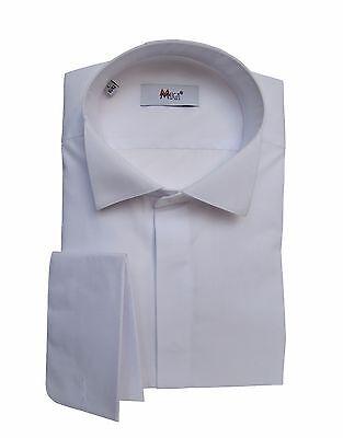 100% Vero Gala Smoking Camicia, Fazzoletto Con Tg 4xl Bianco-mostra Il Titolo Originale Prendiamo I Clienti Come Nostri Dei