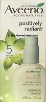 Aveeno Positively Radiant Daily Moisturizer 4.0 Oz Ea Oil Free Spf 15 12/17 Read