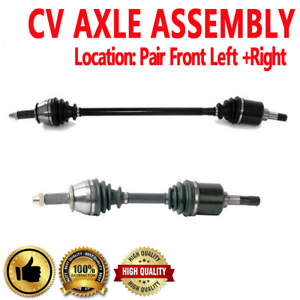 PAIR FRONT LEFT /& RIGHT CV DRIVE AXLE SHAFT ASSEMBLY For FORD ESCORT EXP TEMPO