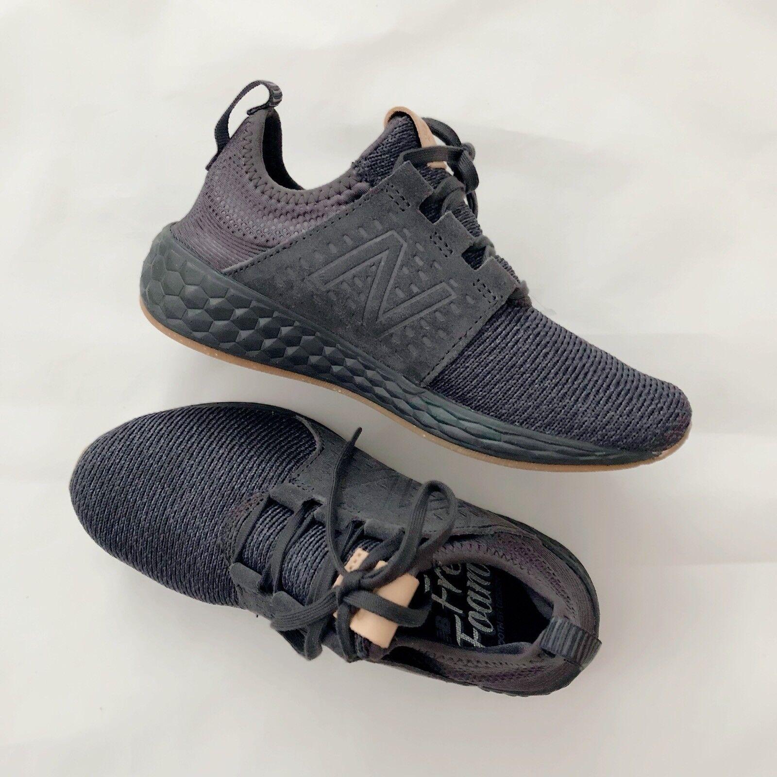 New Balance Women's Fresh Foam Cruz Casual Sneakers Black  Sz 6
